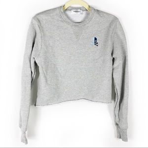 Soulcycle Skull Sweatshirt Pullover Cropped